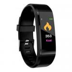Weatherproof Smart band Fitness Tracker 115Plus Black