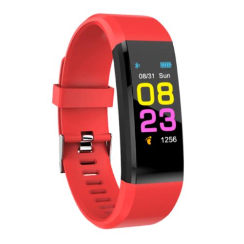 Weatherproof Smart band Fitness Tracker 115Plus Red Gadgetmou