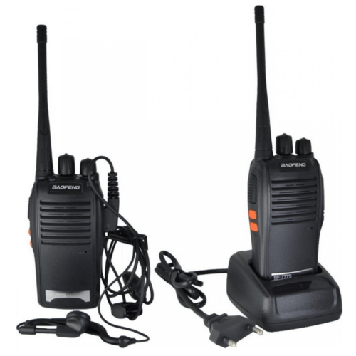 2 Baofeng BF-777S Two Way Radio Sets 16CH UHF 400-470 MHz Radio Walkie Talkie - Black EU Plug