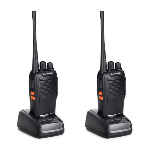 2 Baofeng BF-777S Two Way Radio Sets 16CH UHF 400-470 MHz Radio Walkie Talkie - Black EU Plug Gadget mou