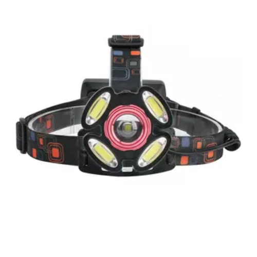 Headlight Rotary Zoom T6 X 1 + LED X 4 (5000 Lumens Max) LED Projector Red