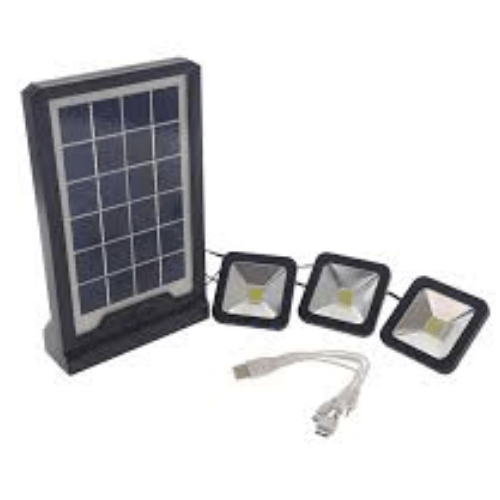 Solar Power Bank Projector With 3 LED Bulbs And Multicable CL-06A