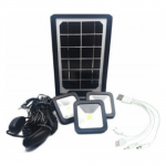 Solar Power Bank Projector With 3 LED Bulbs And Multicable - CL-06A