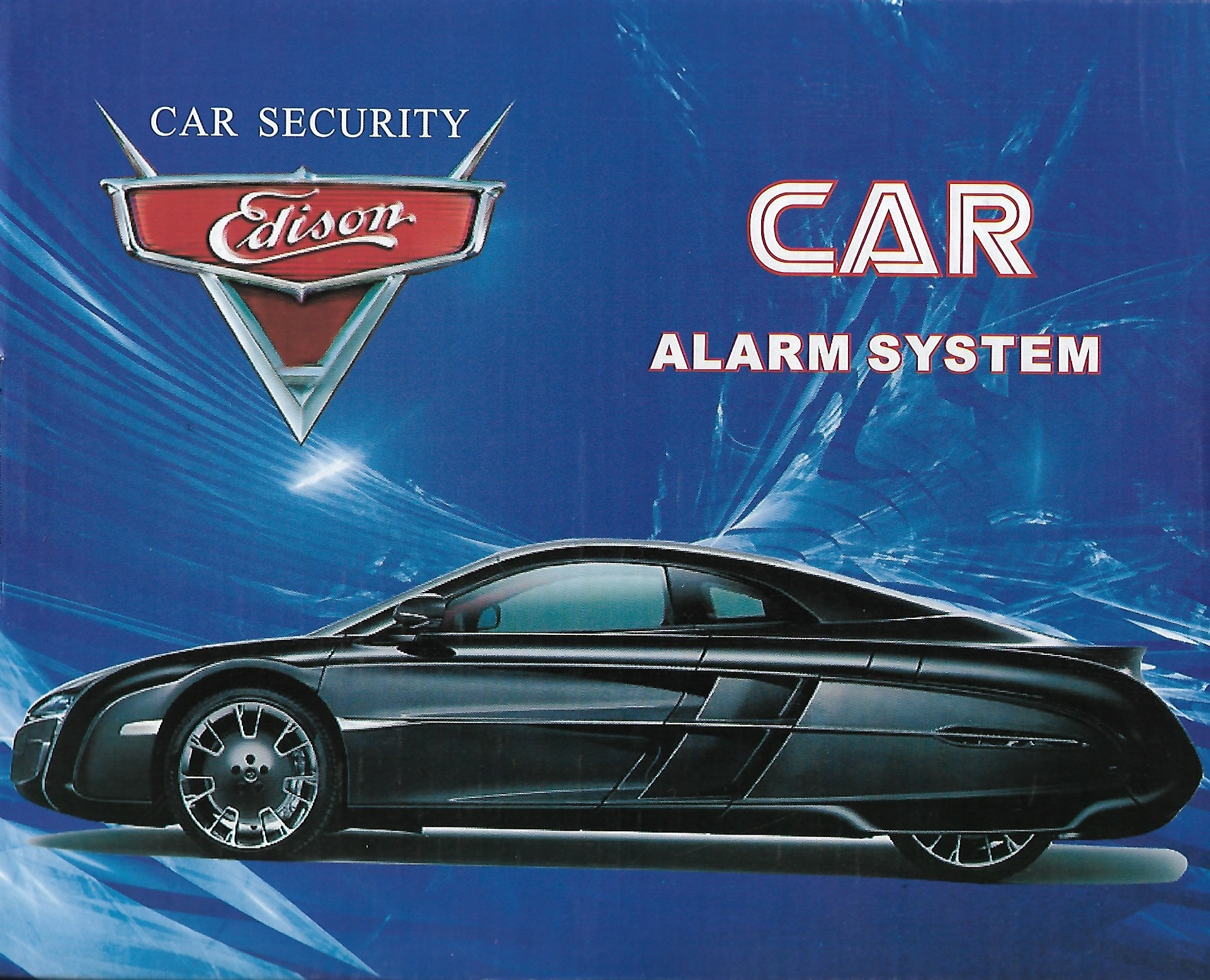 Gadgetmou Car Alarm System Edison with 2 controls + key And Siren