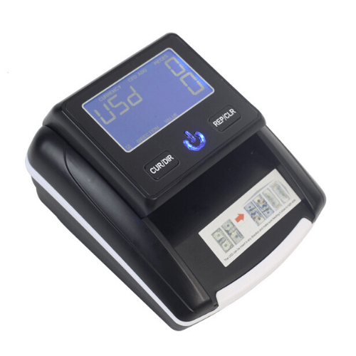 Professional Portable Banknote Detector USDEURGBPRUBBRCIQDPRK Fake Money LCD Display AC and DC Power Detecting machine ZMY130 Gadget mou