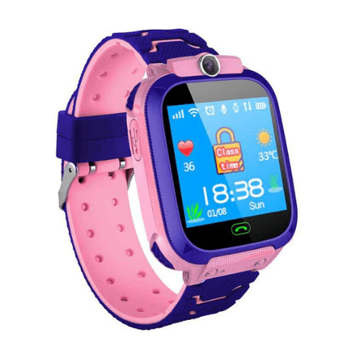 Q12 Childrens Smartwatch Pink Waterproof LBS Positioning