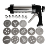 Stainless Steel Cookie Press KitIcing Decorating Gun Sets for BiscuitCake Decoration (20 Pieces) ELANDALOS