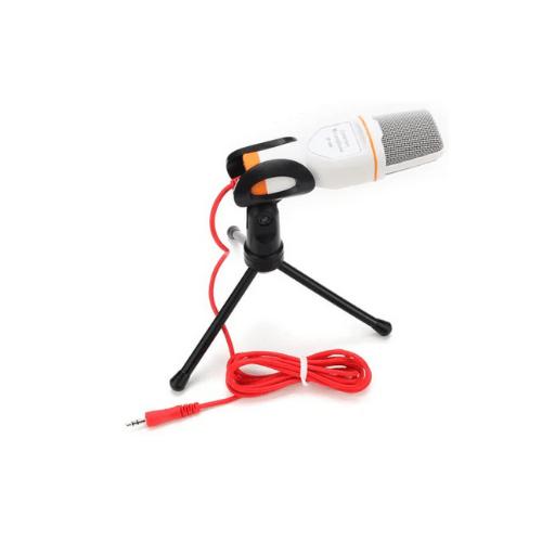 SF-666 Multimedia Studio Wired Condenser Microphone with Tripod Stand - White