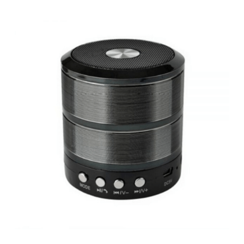 WS-887 Mini Bluetooth Speaker Metal FM/AUX/BLUETOOTH/SD CARD/USB - Black -