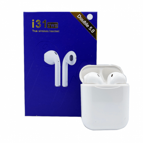 i31 TWS Earbuds Bluetooth Wireless Earphones - White -