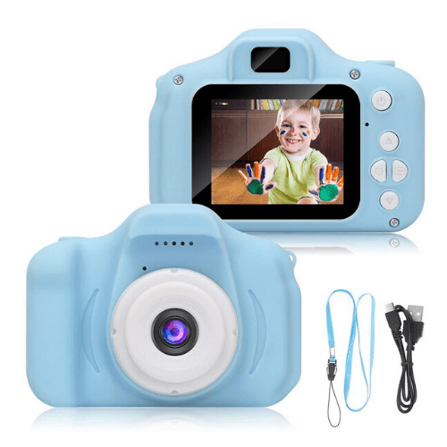Children Mini Camera, Picture video and voice recorder for kids, Rechargeable, 2 inches HD Screen, Educational Toys OEM-x2s (Blue)