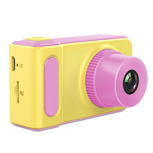 Children's Camera 2-inch LCD Screen, Picture, video recorder and Games, Rechargeable Battery, GOUP K7 Pink TD-KD001