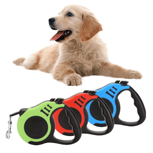 Dog Leash Automatic Retractable Walking Collar Dog Pet SJ-188-5M (Red) gadget mou