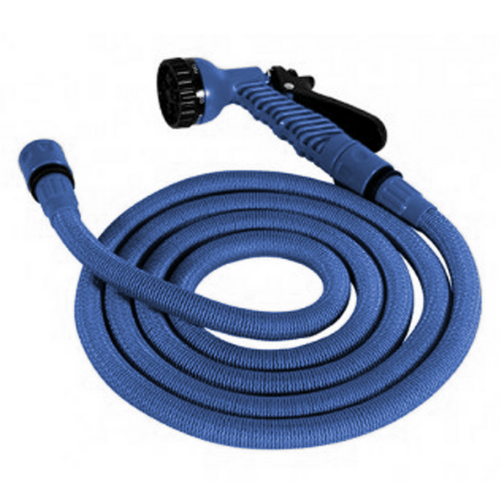 Flexible Expandable Magic Pipe Garden Watering With Spray Gun To Watering 15m 50' OEM JK-GH (blue)