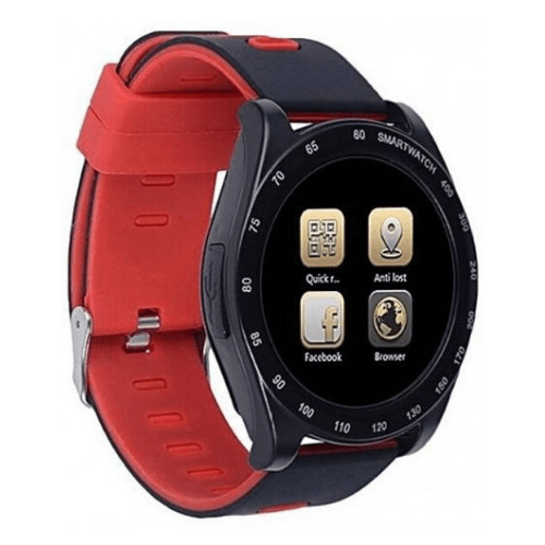 Greek Menu Sports Activity and Smartwatch For Android Touch Screen With Hidden Camera SIM Card TFSD Card OEM-Z1-Red Gadget mou