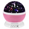 Rotating Light Projector, Starry Nursery Night Light, USB STAR MASTER Projection Lamp K-L6YK Pink Gadget mou
