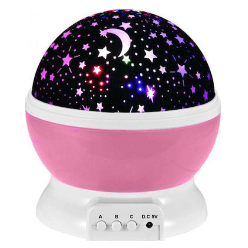 Rotating Light Projector, Starry Nursery Night Light, USB STAR MASTER Projection Lamp K-L6YK Pink Gadget mou