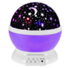 Rotating Light Projector, Starry Nursery Night Light, USB STAR MASTER Projection Lamp K-L6YK Purple Gadget mou