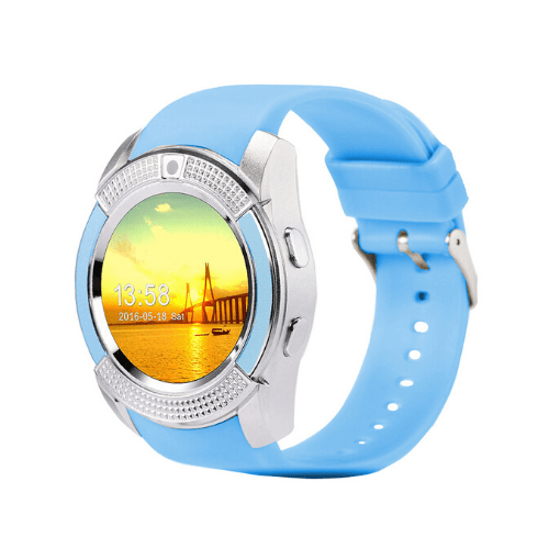 Sport SIM card Smart Watch with Anti-Lost Monitoring , Bluetooth 3.0 OEM V8 - Blue