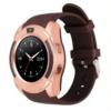 Sport SIM card Smart Watch with Anti-Lost Monitoring and Greek Menu, Bluetooth 3.0 OEM V8 – Brown