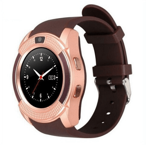 Sport SIM card Smart Watch with Anti-Lost Monitoring and Greek Menu, Bluetooth 3.0 OEM V8 – Brown