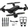 Dual Cameras Foldable RC Drone High-speed Support VR UAV RTF - Black 0.3MP Camera DA MING DM107S