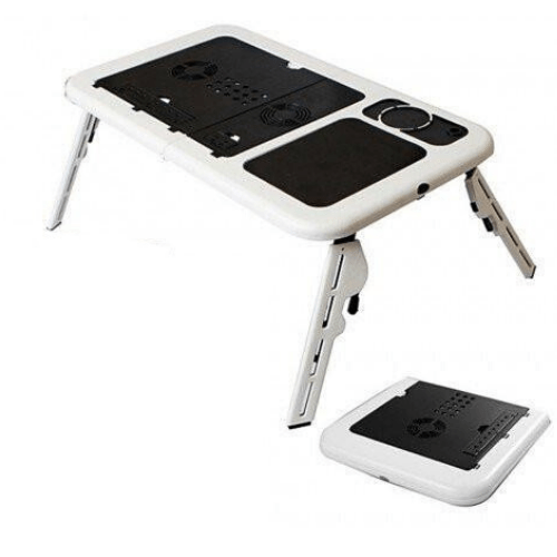 Folding and portable E-Table For Laptop With Two Cooling Fan LD09