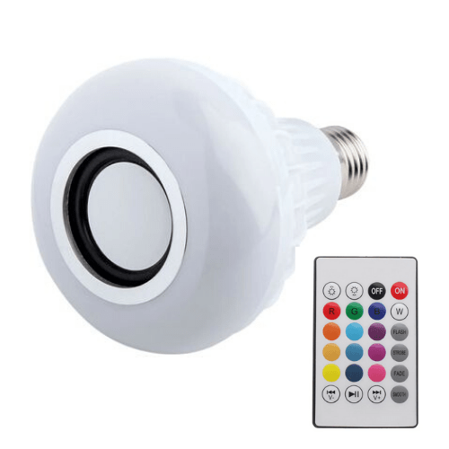 LED Music Bulb, Wireless HY-L409B Bluetooth 4.2, Speaker Colorful LED Lamp E27 6W RGB