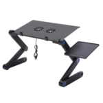 Portable Laptop Foldable Table Omeidi with Two Fan T6 - Black Gadget mou