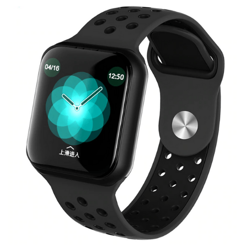 Professional Smartwatch touch screen Fitness Activity IP67 Waterproof Blood Oxygen heart rate blood pressure health For Andriod and IOS smart bracelet OEM-F8 Black Gadget mou