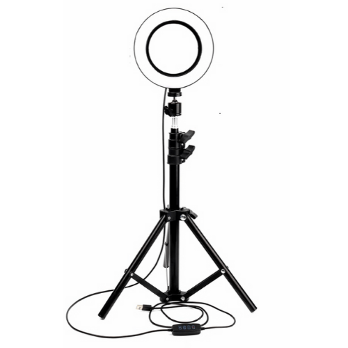 Selfie Photography Ring Fill Light 20cm With LED USB With 3 Colors of Light, Dimmer & Large Tripod Gadget mou