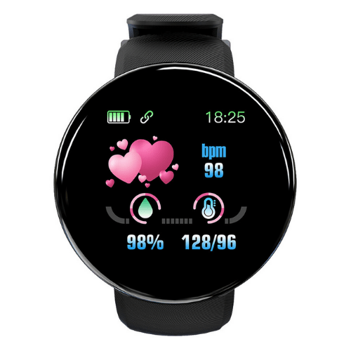 Smartwatch and Activity, SpO2 Monitor Heart Rate Blood Pressure Monitor Real-time USB Direct-charging FitPro-D18