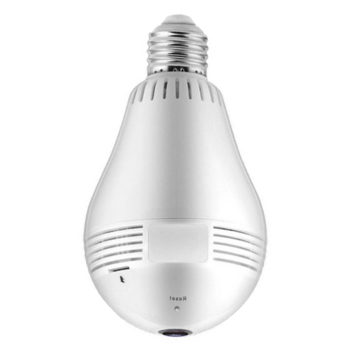 Wireless IP Camera Bulb Light Home Security Surveillance 3D Panoramic VR CCTV WiFi Camera V380-Pro Gadget mou.com