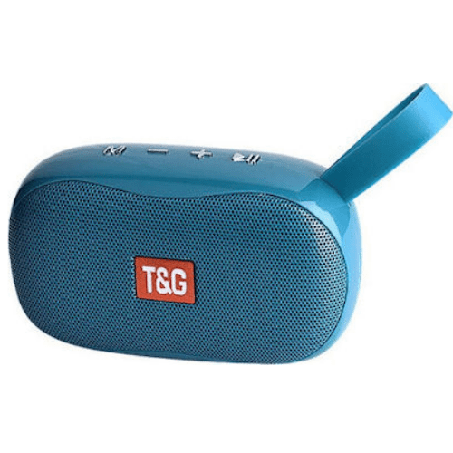 TG173 Mini Portable Bluetooth Speaker Small Wireless Music Column Subwoofer USB Speakers for Phones with TF FM Radio- blue