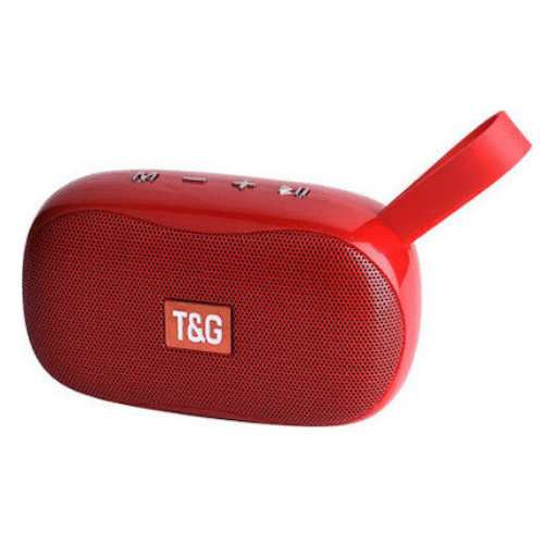 TG173 Mini Portable Bluetooth Speaker Small Wireless Music Column Subwoofer USB Speakers for Phones with TF FM Radio - Red
