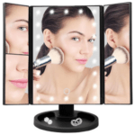 Superstar Magnifying Mirror Triple Makeup Mirror with LED Light (White)
