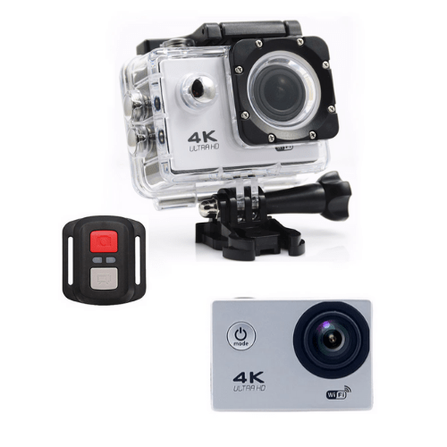 F60R 4K Action Camera, Wifi +Wrist RF Sport CAM 16MP Version V3.0, 170D Sports DV 30M Waterproof +10 Accessories