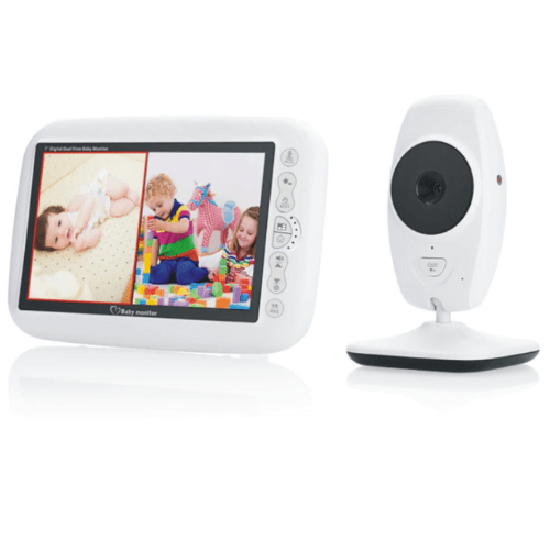 SP870 Video Baby Security Camera, Wifi Baby Monitor 7 inch LCD Screen Wireless Baby Monitor Night Vision Intercom Lullaby Nanny Dual View