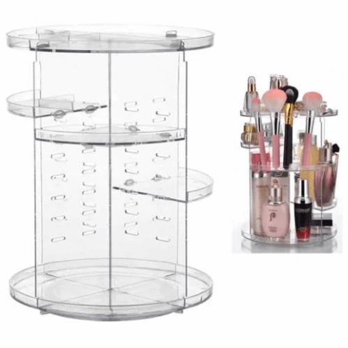Transparent Rotative Cosmetics Storage Box Rotative 360 degrees Rack GW-288