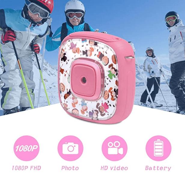 DveeTech H1 Waterproof Children's Camera 1080P +16GB Memory Card gadget mou