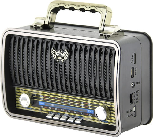 Kemai MD-1909BT USB/SD/MP3/Bluetooth Wireless Retro Radio -Black