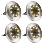 Outdoor Solar Headlights with 4 Led- Solar pathway lights 4 Pack