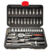 Set 46 Pieces Keys Tools Socket with Head Jointed Case JINFENG - JF-1046