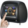 7-inch LCD Car Headrest Monitor DVD Player, IR, USB/SD Card and Zipper S2207