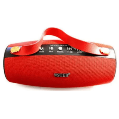WSTER WS-1838 High Sound Quality Wireless Bluetooth Speaker (Red)
