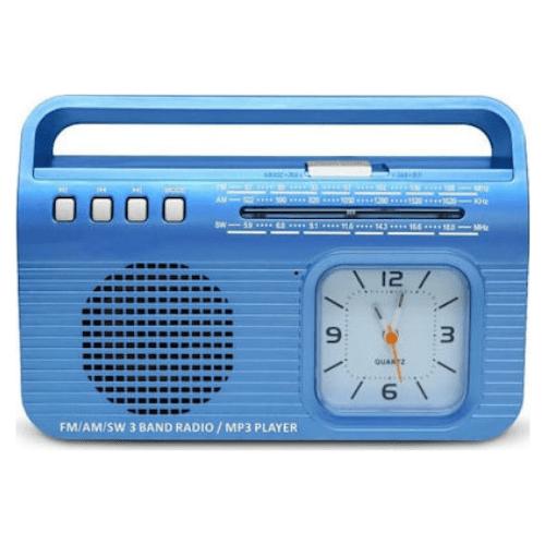 Kemai MD502BT HQ sound USB/Wireless BT/Clock -Blue