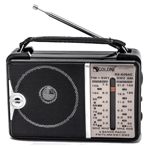 Portable ham radio fm am sw 1-2 4 band radio KNSTAR radio RX-606AC