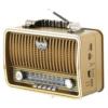Kemai MD-1909BT USB/SD/MP3/Bluetooth Wireless Retro Radio-Gold