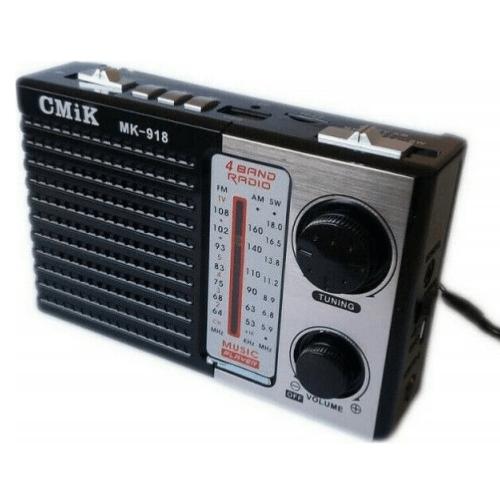 CMiK MK-918 Unidad Flash AM/FM/SW RADIO USB/TF Card Portable Tartega/MMC/ Speaker