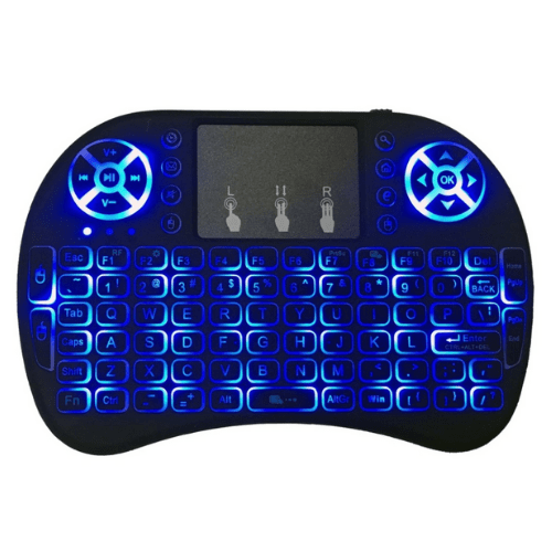 i8 Backlight RGB Colors Wireless Keyboard and Mouse 2.4 GHz Smart Remote Touchpad